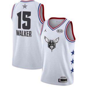 Заказать поиск джерси Kemba Walker Hornets #15 2019 All-Star White