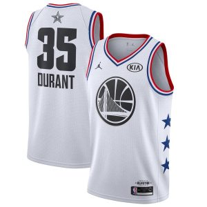 Kevin Durant Warriors #35 2019 All-Star White