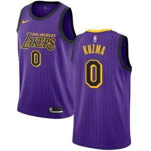 Заказать поиск джерси Kyle Kuzma Lakers #0 City Edition Purple