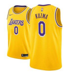 Заказать поиск джерси 2018-19 Kyle Kuzma Lakers #0 Icon Gold