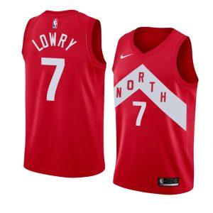 Заказать поиск джерси Kyle Lowry Raptors #7 Earned Red