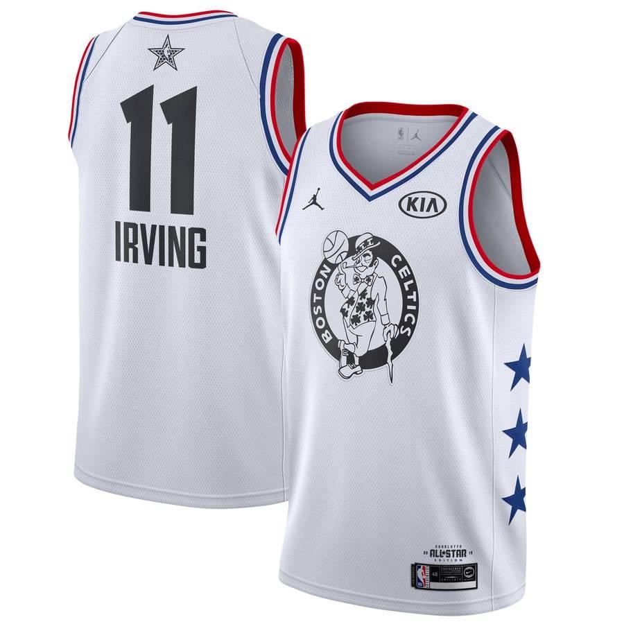 Заказать поиск джерси Kyrie Irving Celtics #11 2019 All-Star White