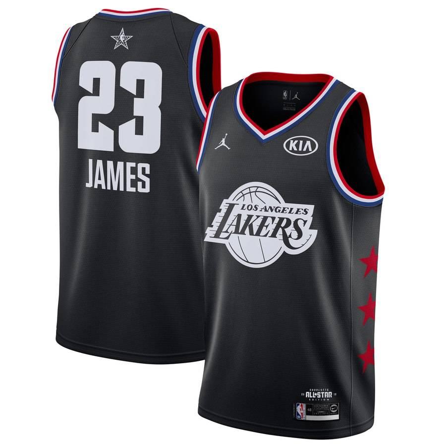 Заказать поиск джерси LeBron James Lakers #23 2019 All-Star Black
