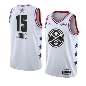Заказать поиск джерси Nikola Jokic Nuggets #15 2019 All-Star White Jersey