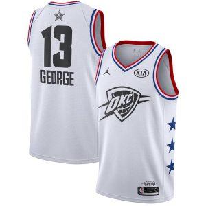 Заказать поиск джерси Paul George Thunder #13 2019 All-Star White