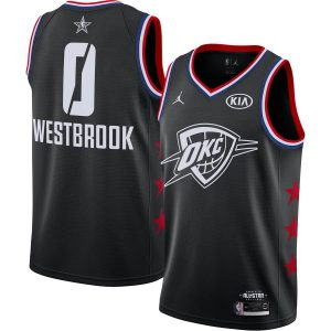2019 NBA All-Star Thunder Russell Westbrook #0 Black Swingman Jersey