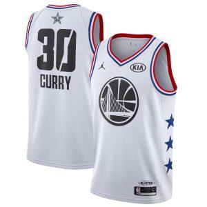 Заказать поиск джерси Stephen Curry Warriors #30 2019 All-Star White
