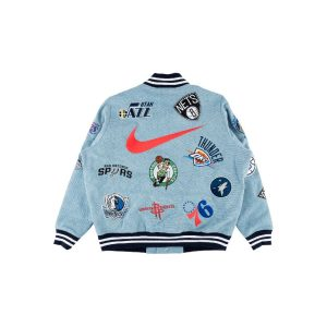 Заказать поиск куртки Supreme Nike NBA Teams Warm-Up Jacket Denim