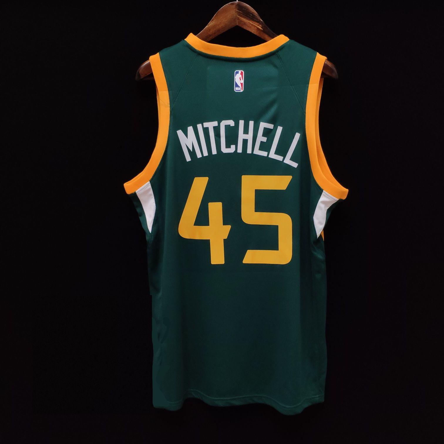 2018-19 Utah Jazz #45 Donovan Mitchell Green Earned