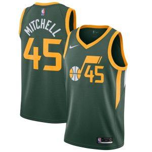 Заказать поиск джерси Utah Jazz #45 Donovan Mitchell Green Earned
