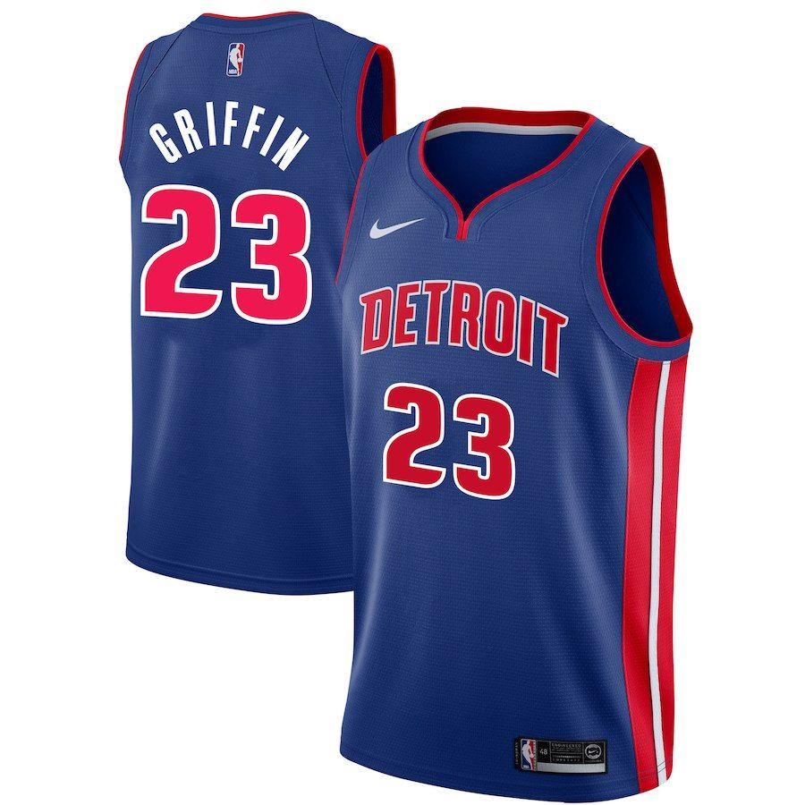Заказать поиск джерси 2018-19 Blake Griffin Pistons #23 Icon Blue