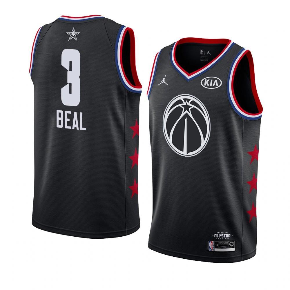 Заказать поиск джерси 2018-19 Bradley Beal Wizards #3 All-Star Black