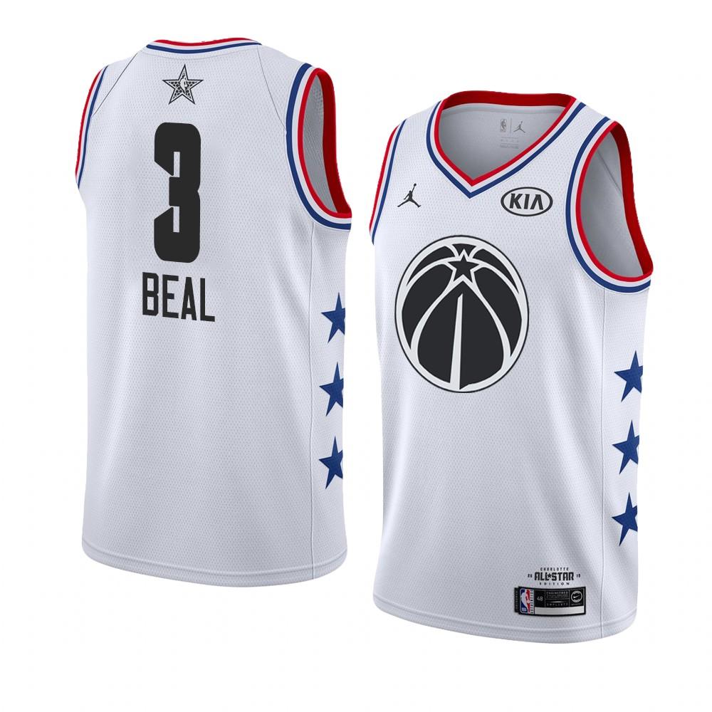 Заказать поиск джерси 2018-19 Bradley Beal Wizards #3 All-Star White
