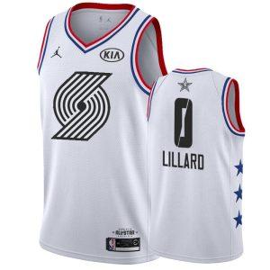Заказать поиск джерси 2018-19 Damian Lillard Blazers #0 All-Star White