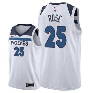 Заказать поиск джерси 2018-19 Rose Timberwolves #25 Association White