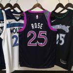 2018-19 Derrick Rose Timberwolves #25 City Purple-3