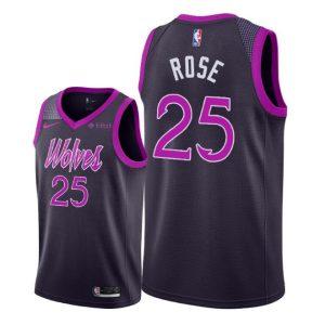 Заказать поиск джерси 2018-19 Rose Timberwolves #25 City Purple