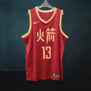 2018-19 James Harden Rockets #13 City Red