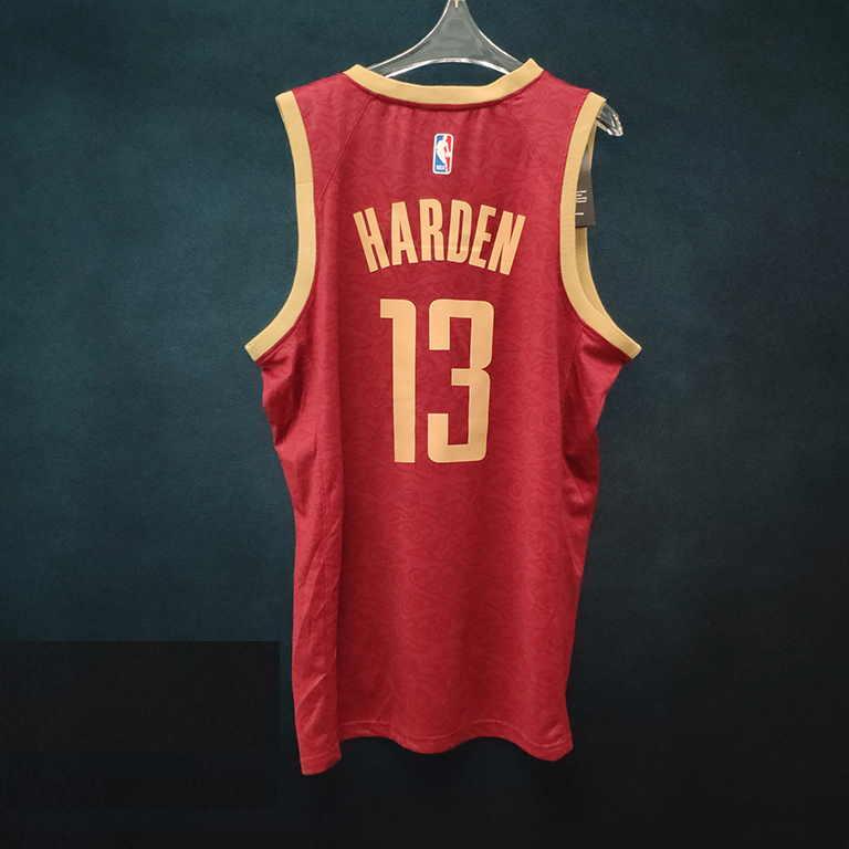 2018-19 James Harden Rockets #13 City Red