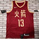 2018-19 James Harden Rockets #13 City Red-3