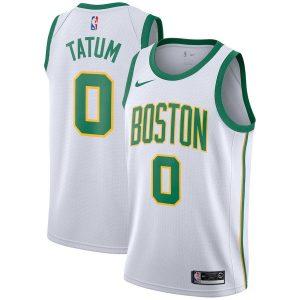 Заказать поиск джерси 2018-19 Jayson Tatum Celtics #0 City White