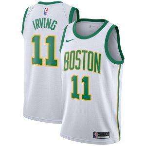 Заказать поиск джерси 2018-19 Kyrie Irving Celtics #11 City White