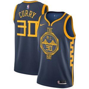 Заказать поиск джерси 2018-19 Stephen Curry Warriors #30 City Navy