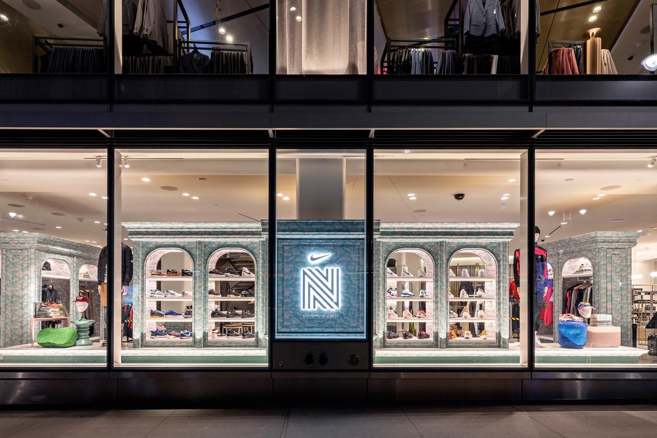 Nordstrom x Nike открывает свой первый магазин мужских кроссовок в Нью-Йорке