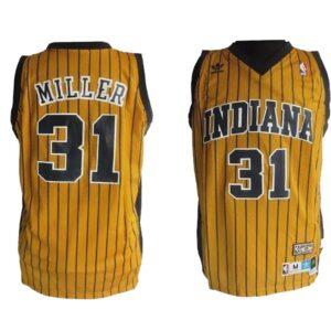 Заказать поиск джерси 1996 Indiana Pacers #31 Reggie Miller Gold Road