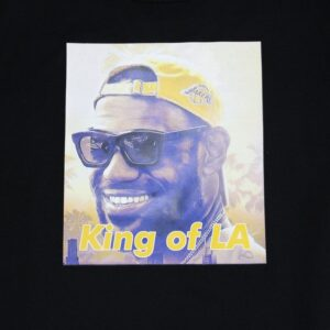 2019 James Lebron King of LA Tee Black