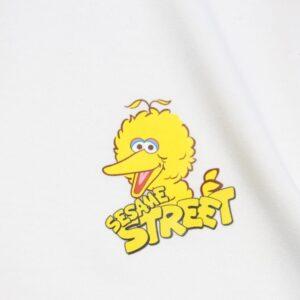 футболки 2019 KAWS x Sesame Street Elmo Tee White