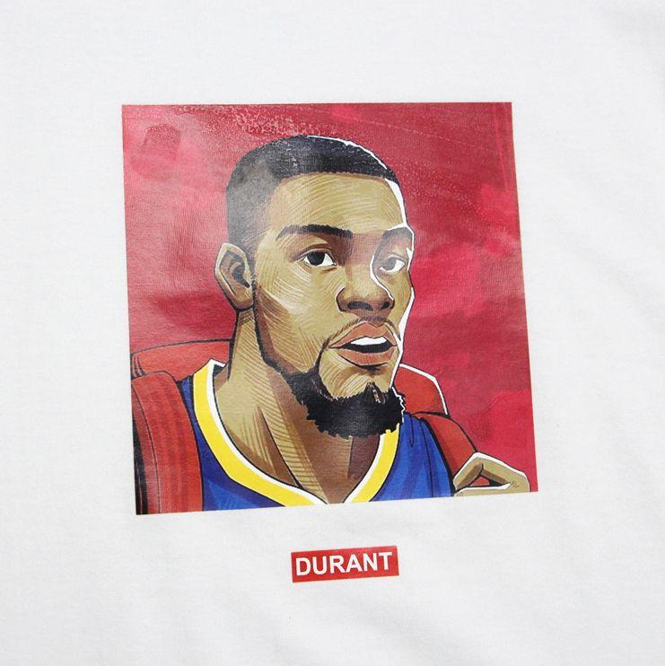 Заказать поиск футболки 2019 NBA Durant ST FY Basketball Tee White
