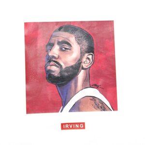 Заказать поиск футболки 2019 NBA Irving ST FY Basketball Tee White