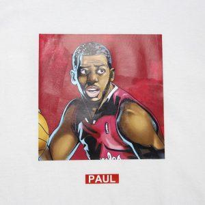 Заказать поиск футболки 2019 NBA Paul ST FY Basketball Tee White
