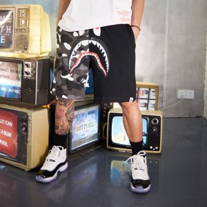 Заказать поиск шорт BAPE City Camo Shark Sweat Shorts Black