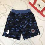 BAPE x PSG Sweat Shorts Navy-1