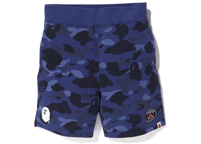 Заказать поиск шорт BAPE x PSG Sweat Shorts Navy