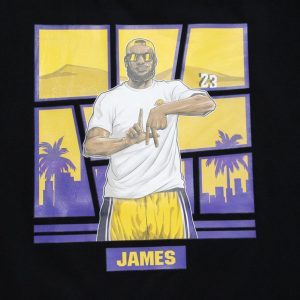 James 23 Los Angeles Tee Black
