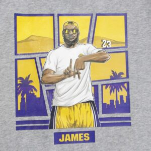 James 23 Los Angeles Tee Grey