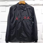 KAWS x Jordan Satin Coaches Jacket Black-1