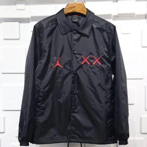 KAWS x Jordan Satin Coaches Jacket Black