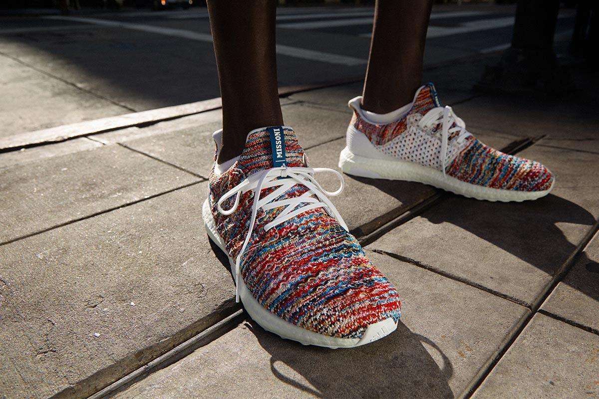 Последняя модель летних кроссовок Space-Dyed Ultraboosts от Миссони