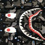Shark Shorts Space Camo Glow In The Dark-5
