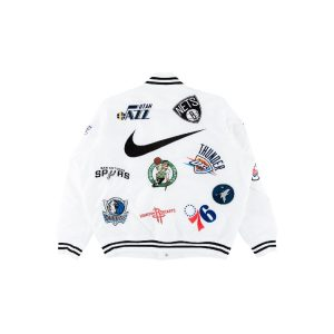 Заказать поиск куртки Supreme Nike NBA Teams Warm-Up Jacket White