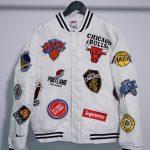 Supreme Nike NBA Teams Warm-Up Jacket White-5