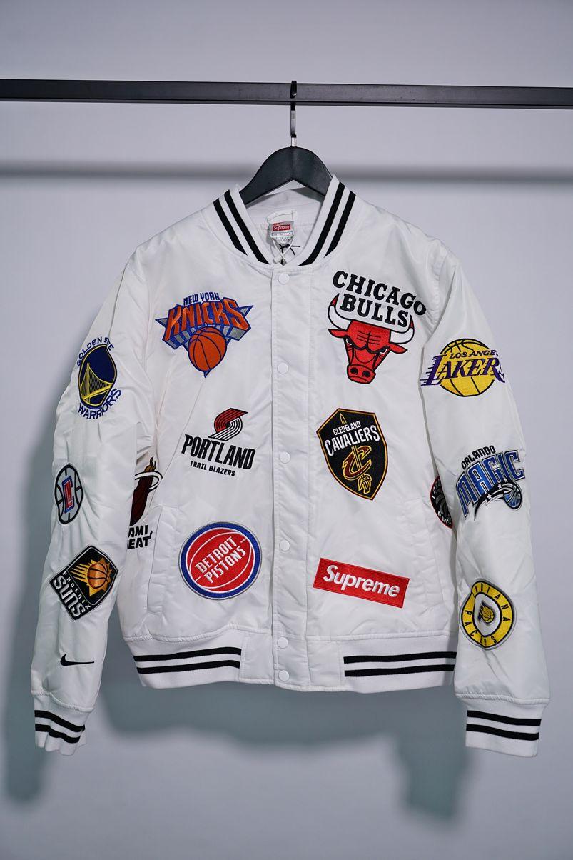 Заказать поиск куртки Supreme Nike NBA Teams Warm-Up Jacket White