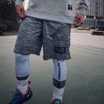2018 NBA Training Shorts Grey-9