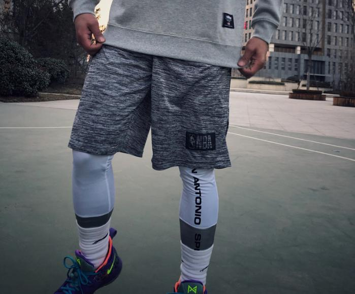 2018 NBA Training Shorts Grey