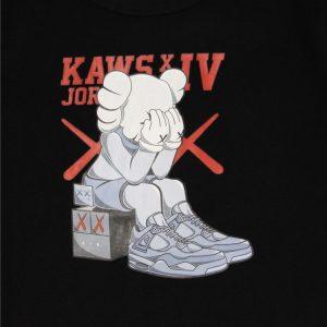 2019 KAWS x Jordan 4 Tee Black
