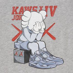 2019 KAWS x Jordan 4 Tee Grey